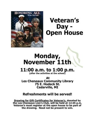 Veteran's Day Open House
