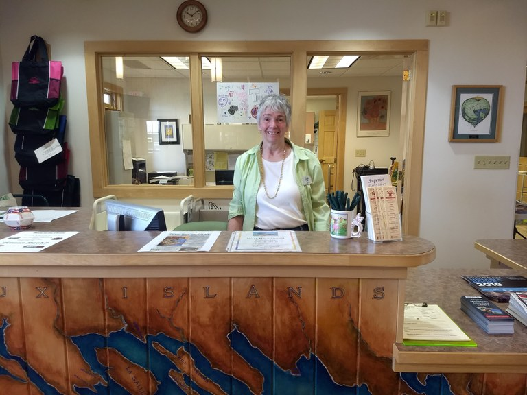 Library Manager Jane French
